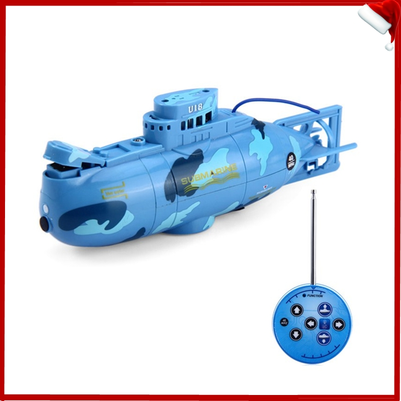 Create Toys 3311 Mini RC Submarine 3CH Remote Control Toy With USB Cable Blue Yellow Christmas Children Kids Birthday Gift