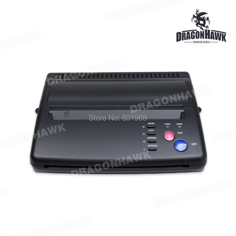 Tattoo Stencil Maker Transfer Machine Thermal Copier Printer With Gift  20 Pieces Tattoo Transfer Papers pro black tattoo stencil thermal transfer copier machine ws d200 gift