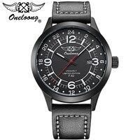 Top Militaire Sport Montre Étanche Sport Marque ONELOONG En Cuir Calendrier Horloge Pilote Air Montre Reloj Hombre