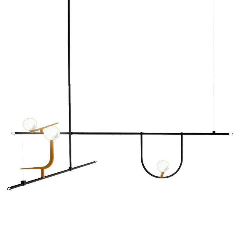 Американский творческий Стекло шар подвесные светильники железный обруч Повесьте лампы для Спальня кафе ресторана бара Освещение в помеще...