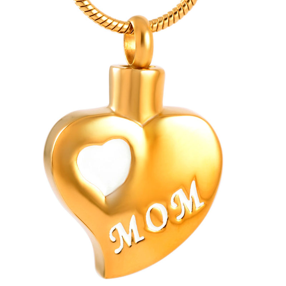 CMj9180 Wholesale 316L Stainless Steel Silver Rose G Cremation Urn Ash Pendant Necklace Women Man Free Ship