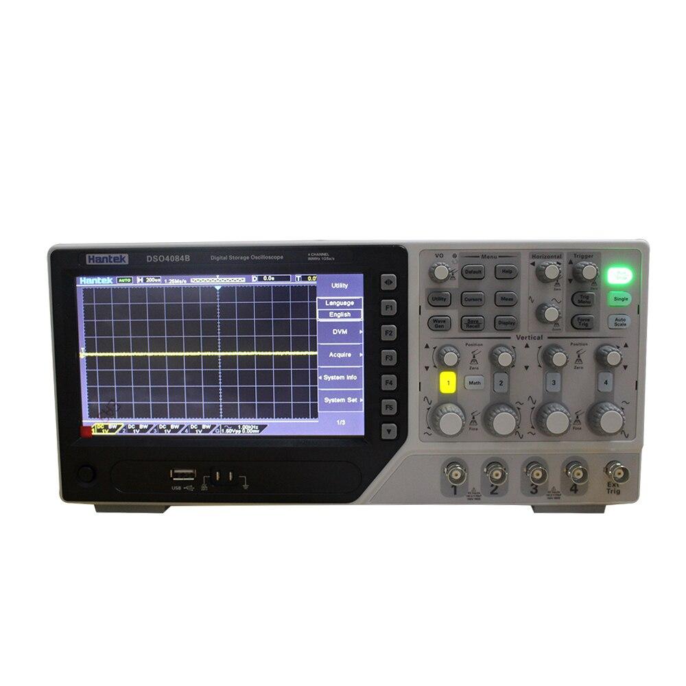 Hantek Dso4084b Digital Oscilloscope Portable 80mhz 4channels 1gsa S Lcd Record Length 64k Usb Handheld Osciloscopio 7 Inch In Oscilloscopes From Tools On