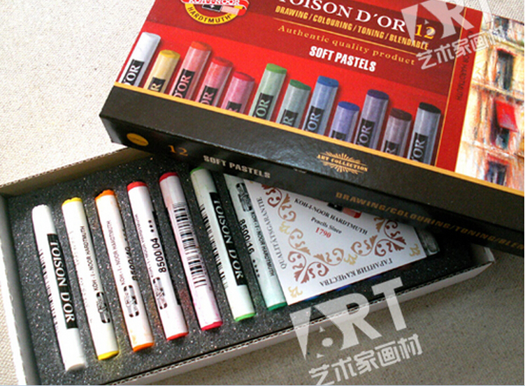 painting crayons koh i noor soft pastel 12 color set art drawing set
