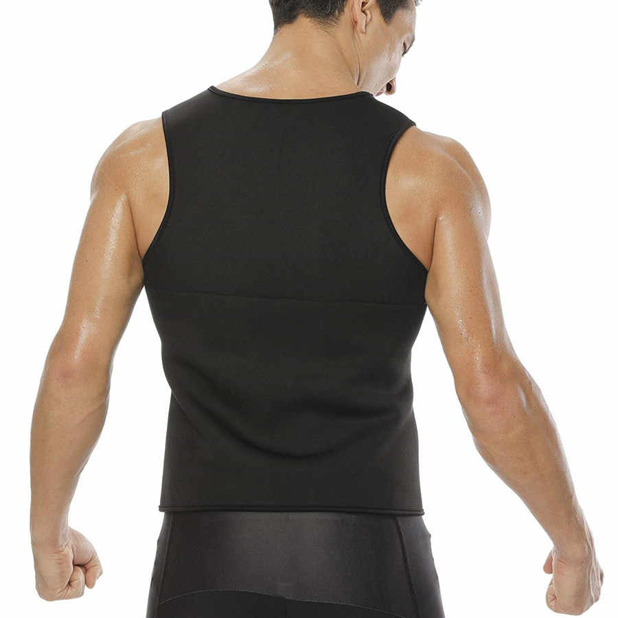 Männer Abnehmen Weste Hemd Thermo Neopren Taille Trainer Korsett Gewicht Verlust Schweiß Sauna Körper Shapers Weste Bauch Fett Brennen