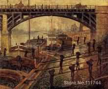 Art for office space Coal Dockers Claude Monet Paintings High quality hand painted