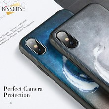 KISSCASE Fish Dog Cut Phone Case For Samsung Galaxy S9 S8 Plus S7 Edge Star Moon Note 9 8 Funda