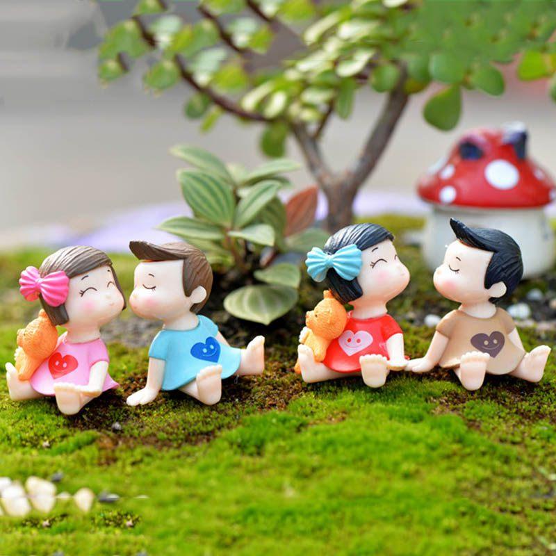 Boys and Girls Miniature Fairy Figurines Action & Toy Figures Micro Landscape Accessories Terrarium/ Succulents Decoration