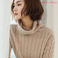 Menca Sheep New Arrival Women's Sweater High Quality Jumpers Ladies Cashmere Knitting Turtleneck Standard Pullovers Girls Cloth