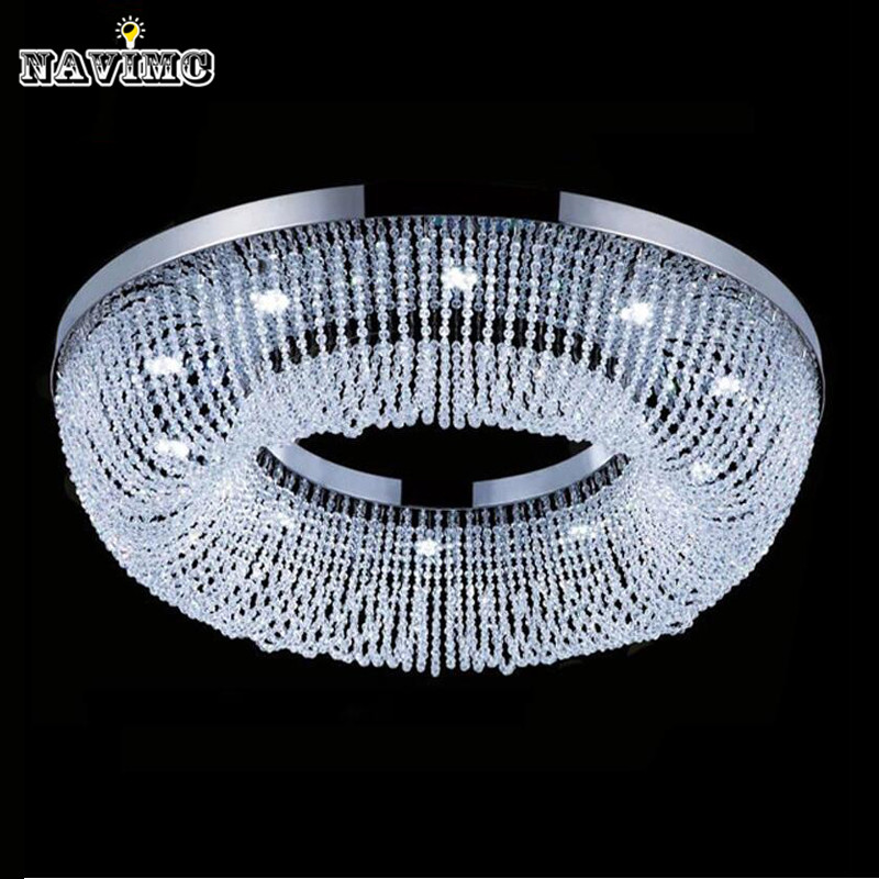 Circles Living Room Chandelier Lighting Modern Luxury Cristal Lustre Home Crystal Lamps AC110-240V Ceiling Mount Light Fixture