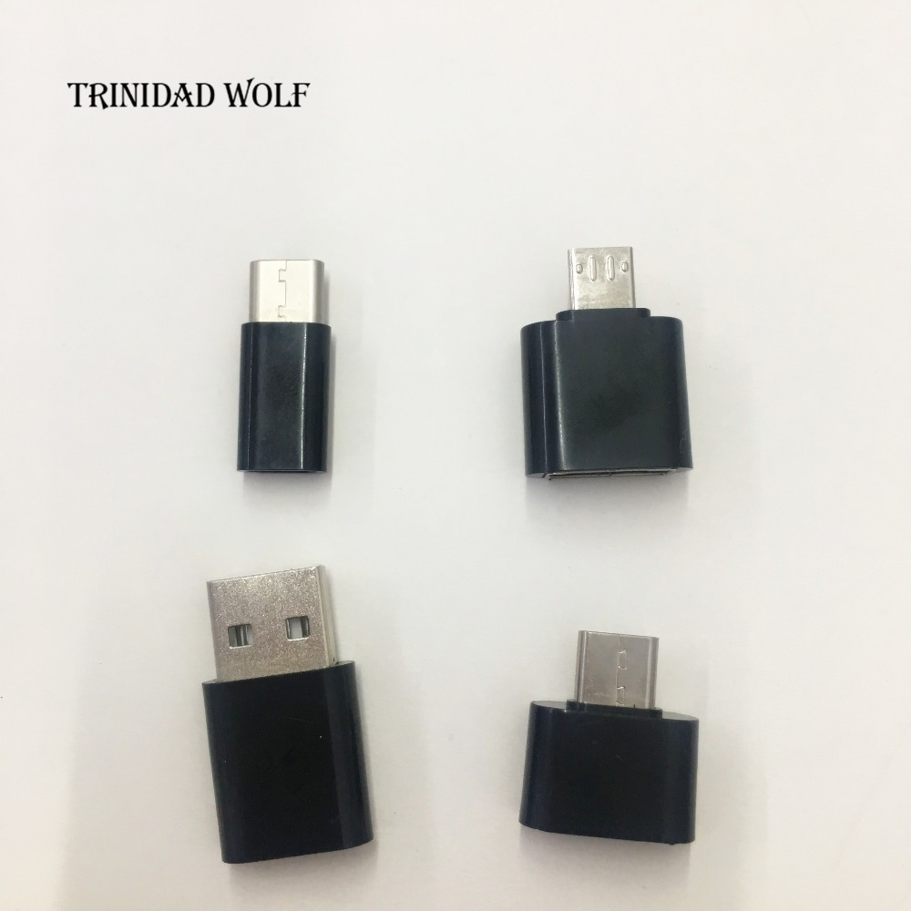 TRINIDAD WOLF Type-C Converter Micro USB To USB OTG Mini Adapter Connector mini charger For Macbook Tablet Android SmartPhone