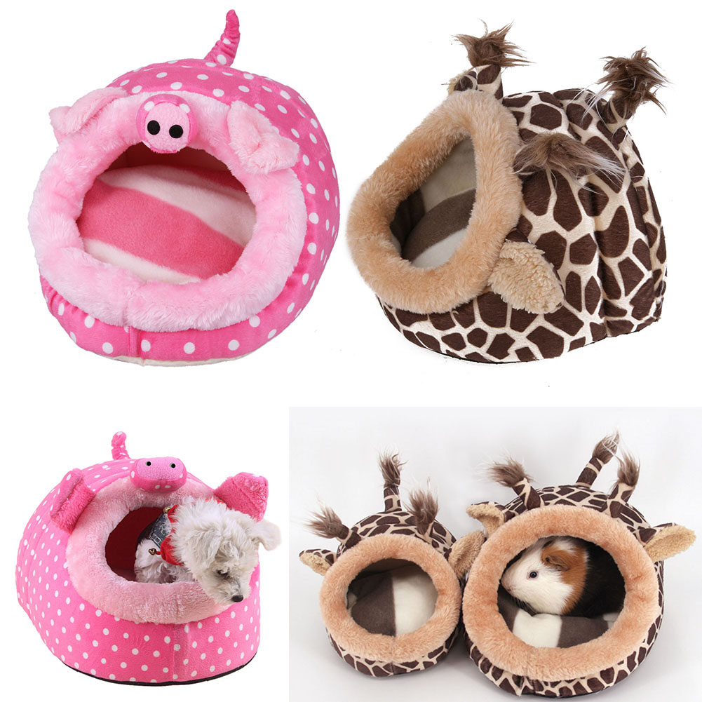 Cute Pet Hamster Cage Hammock Nest House Small Animal Guinea Pigs Hamster Mice Winter Warm Plush Cotton Pet Bed Dropshipping