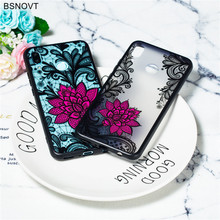 For Huawei Nova 3 Case Soft Silicone Lace Rose Cute Flower Anti-knock Phone Cover Funda