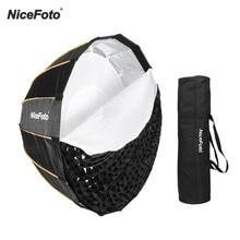NiceFoto LED 90cm מהיר ההגדרה מתקפל עמוק Parabolic מטריית Softbox צילום סטודיו SoftBox עם רשת לשאת תיק 90/120 cm