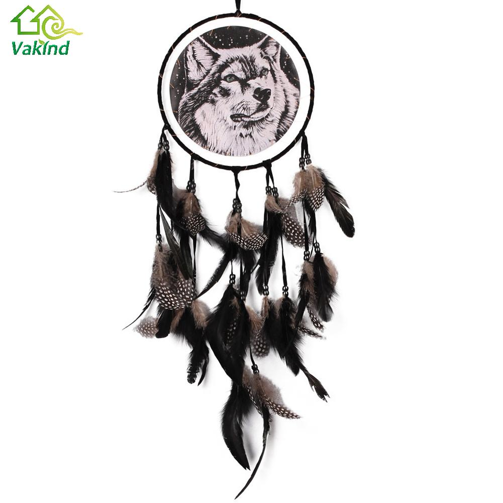 dreamcatcher wolves feathers white - photo #9