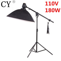 Godox K 180A Photography Softbox Flash Lighting Kits 110V 180ws Storbe Flash+Lightbox+Stand+Boom Arm Photo Studio Accessories