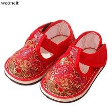 b883923c6fd Weoneit clásico chino viento bebé suave zapatos de pie zapatos de bebé  recién nacido para preandador