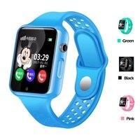 G98 crianças relógio inteligente à prova dwaterproof água android ios com bluetooth gps tracker chamada sos chat voz facebook relógio de pulso para criança bebê|Relógios inteligentes| |  -