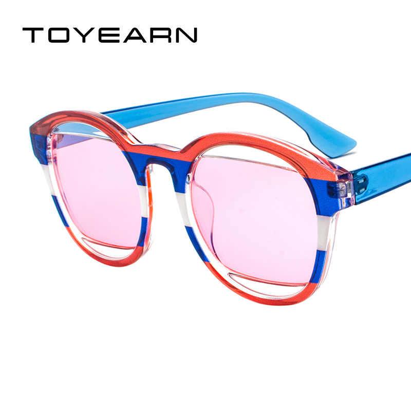 4201b4e97dc TOYEARN 2018 New Fashion Vintage Round Sunglasses Women Men Brand Designer  Three Colors Frame Sun
