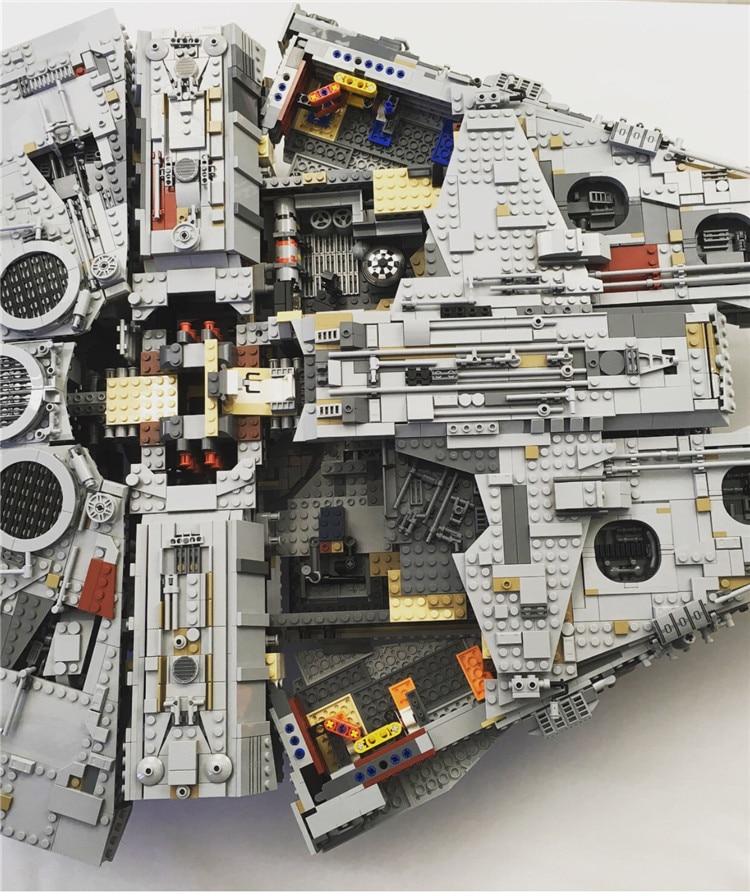 Millennium Falcon Lepin 8445pcs Compatible 75192 Star wars Series Ultimate Collectors Model Building Bricks Toys 42