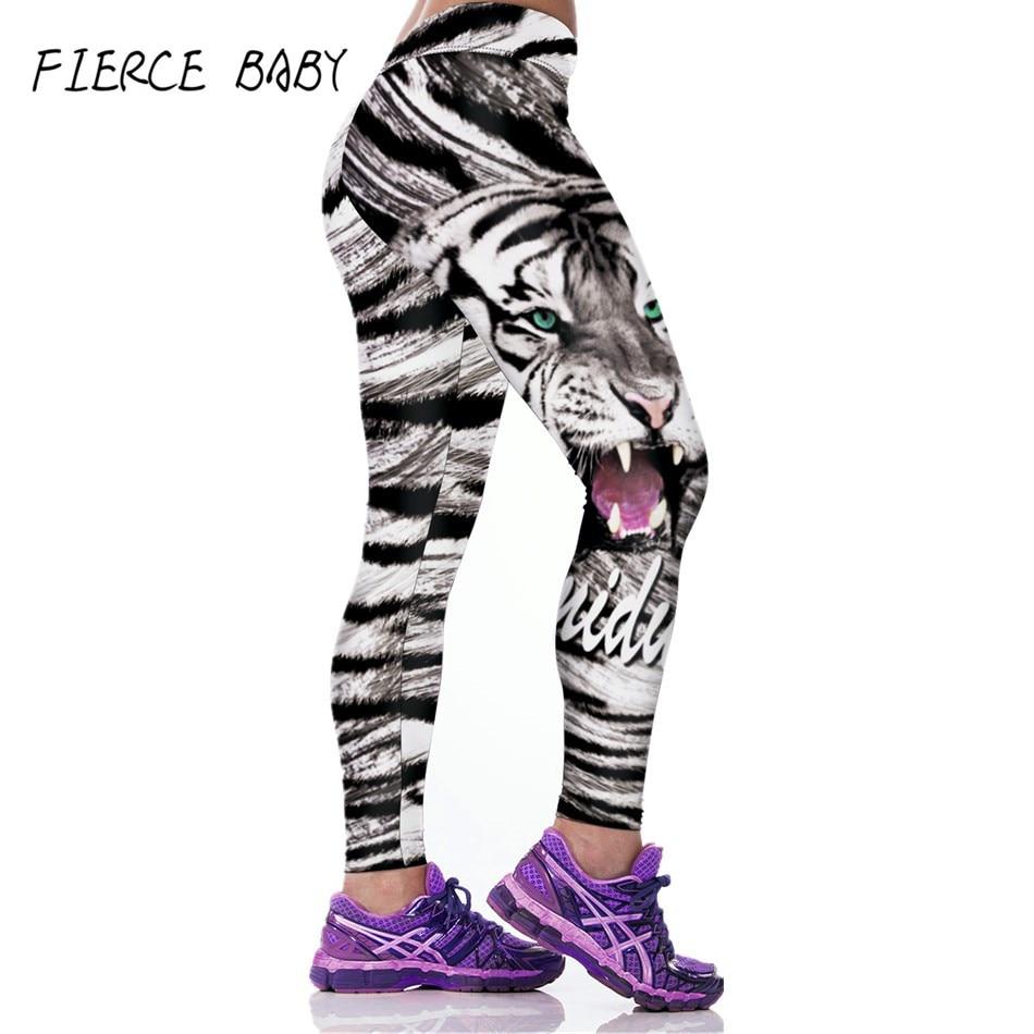 Fierce Baby 3D Print Women Sports Fitness Leggings Yoga -9352