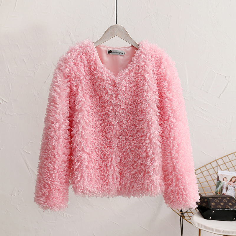 Spring Autumn Jackets For Girls Faux Fur Coat Lamb Velvet Baby Girls Fur Coat Warm Kids Girls Winter Jackets Children Outerwear кресло качалка dondolo mebelvia