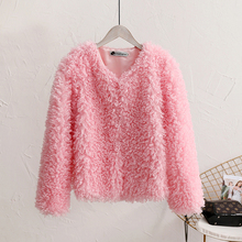 Spring Autumn Jackets For Girls Faux Fur Coat Lamb Velvet Ba