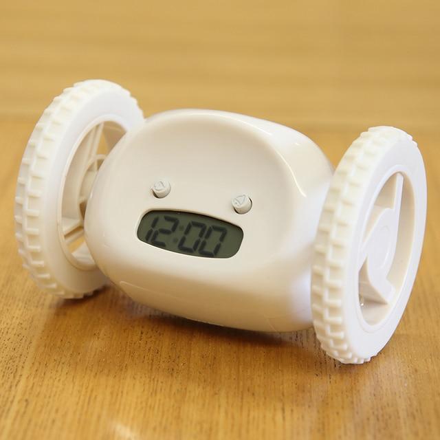 LED Display Alarm Clock Runaway Abnormal Running Running Alarm Clock Mute  Bedroom Bedside Luminous Clock Will Escape-in Alarm Clocks from Home & ...