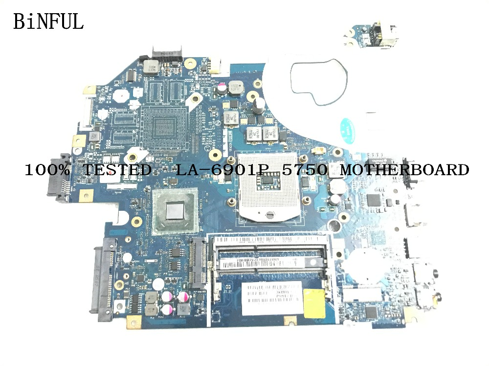 BiNFUL 100% TESTED P5WE0 LA-6901P FOR ACER ASPIRE 5750 575-G LAPTOP MOTHERBOARD COMPARE BEFORE ORDER image