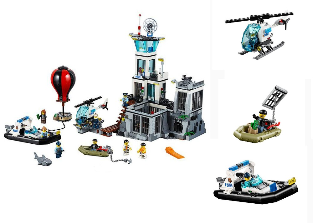 New Model building kits compatible with lego City Series Prison island 815pcs 3D blocks Educational toys hobbies for children lepin 02012 city deepwater exploration vessel 60095 building blocks policeman toys children compatible with lego gift kid sets