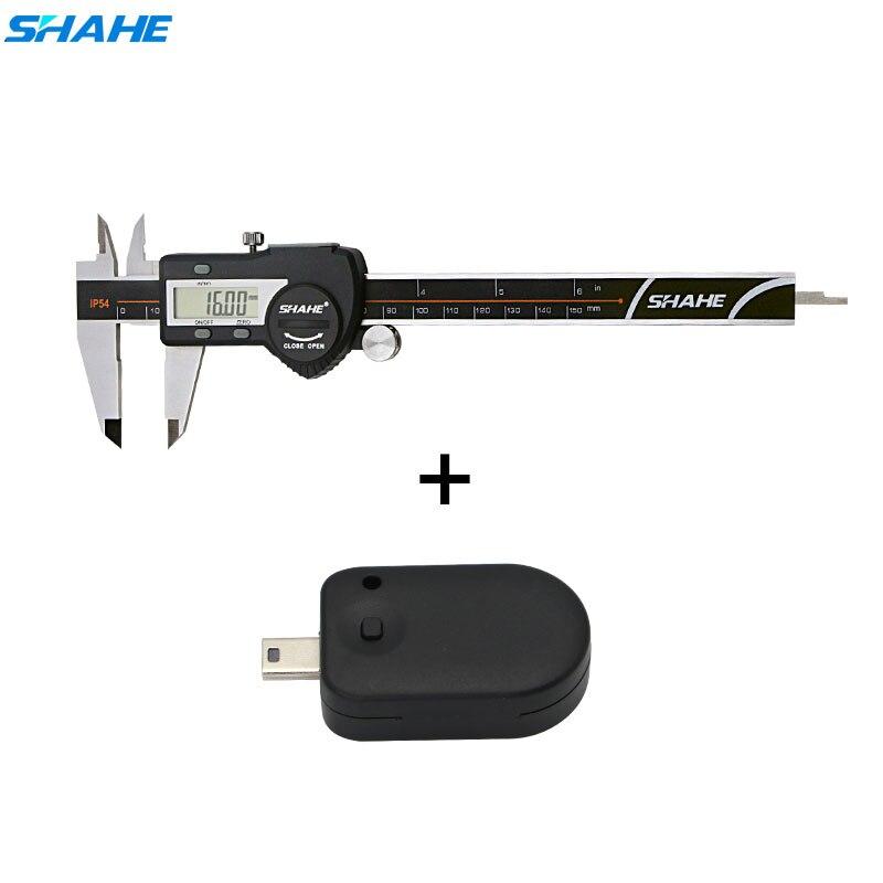 SHAHE Caliper Set Electronic Vernier Caliper 150 mm +Smart Adapter data output electronic caliper ada mechanic 150