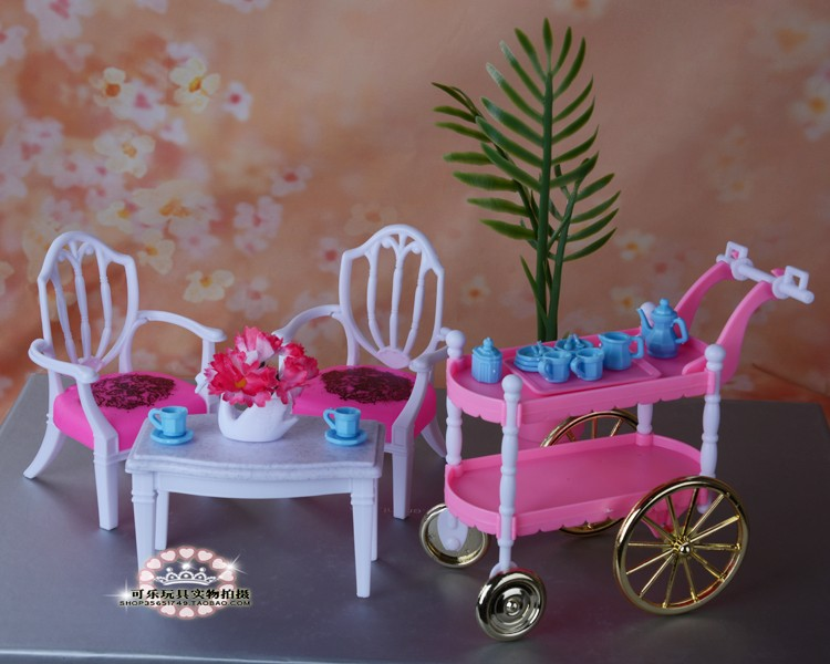 Hot Selling Doll Möbler Mats Tårta Bil Tillbehör Till Barbie Ken - Dockor och tillbehör - Foto 3