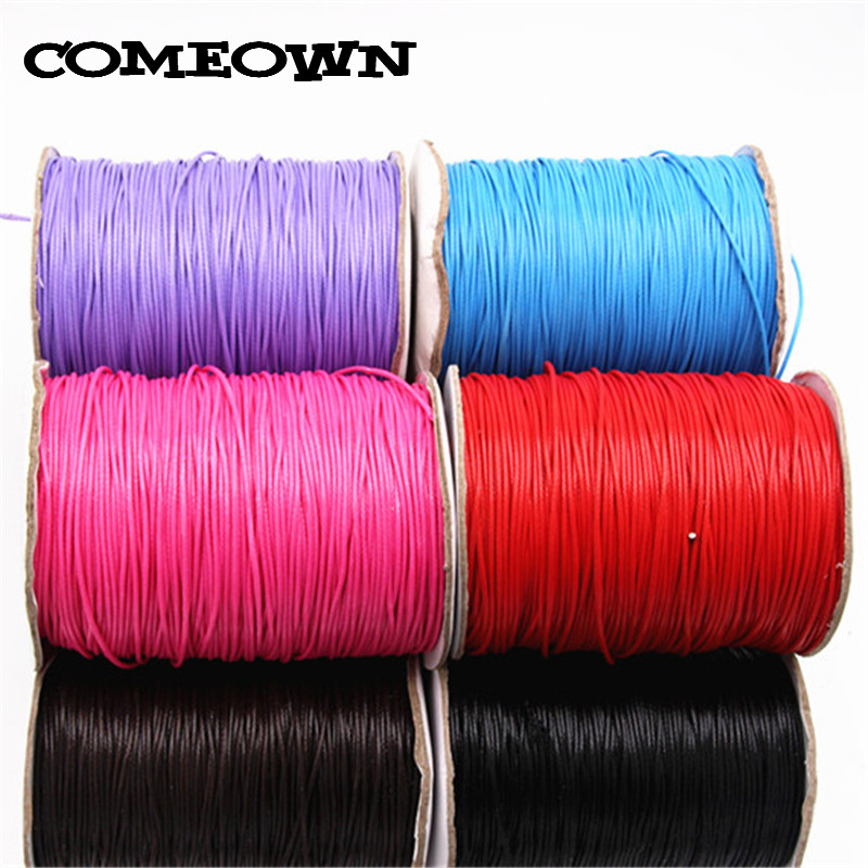 5Meters 1mm Waxed Thread Cord String Strap Necklace Rope Leather Cords For Jewelry Making Bracelets DIY Jewelry Accessories