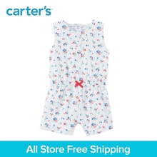Carter s 1 piece baby children kids clothing Girl Summer Floral bow Romper 118I238