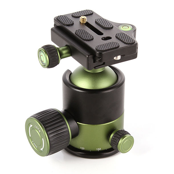Universal 20KG Metal Heavy Duty Camera Tripod Ball Head w/ QR Quick Release Plate 1/4Screw