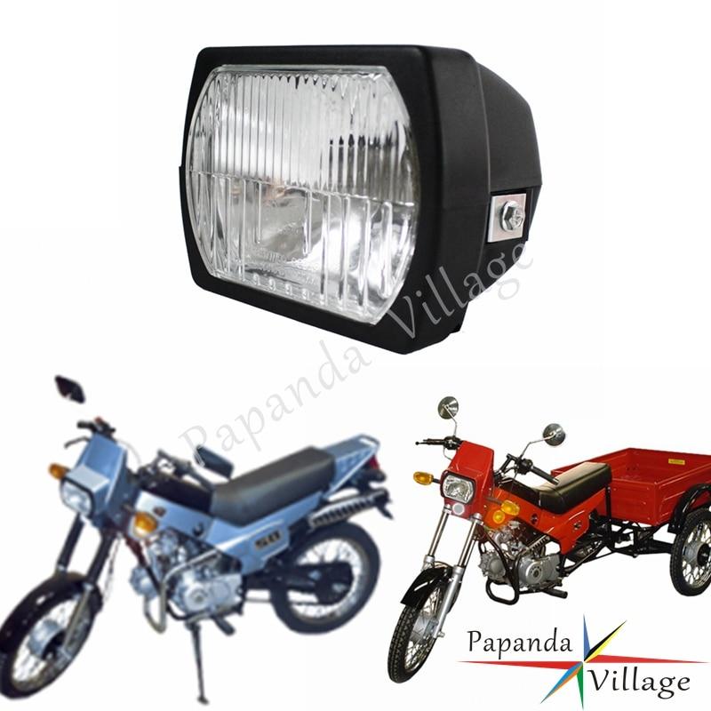 Papanda Motorcycle Black E-Marked Square Headlight Headlamp For ZiD Pilot ZD-50 Ptaha ZD-36 ZiK MZIK EP-1616