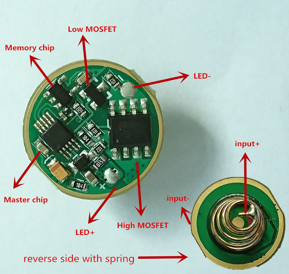 Sofirn New C8A C8T Driver 2 Groups Circuit Board Anti-reverse LED Driver Chip Mode Memory