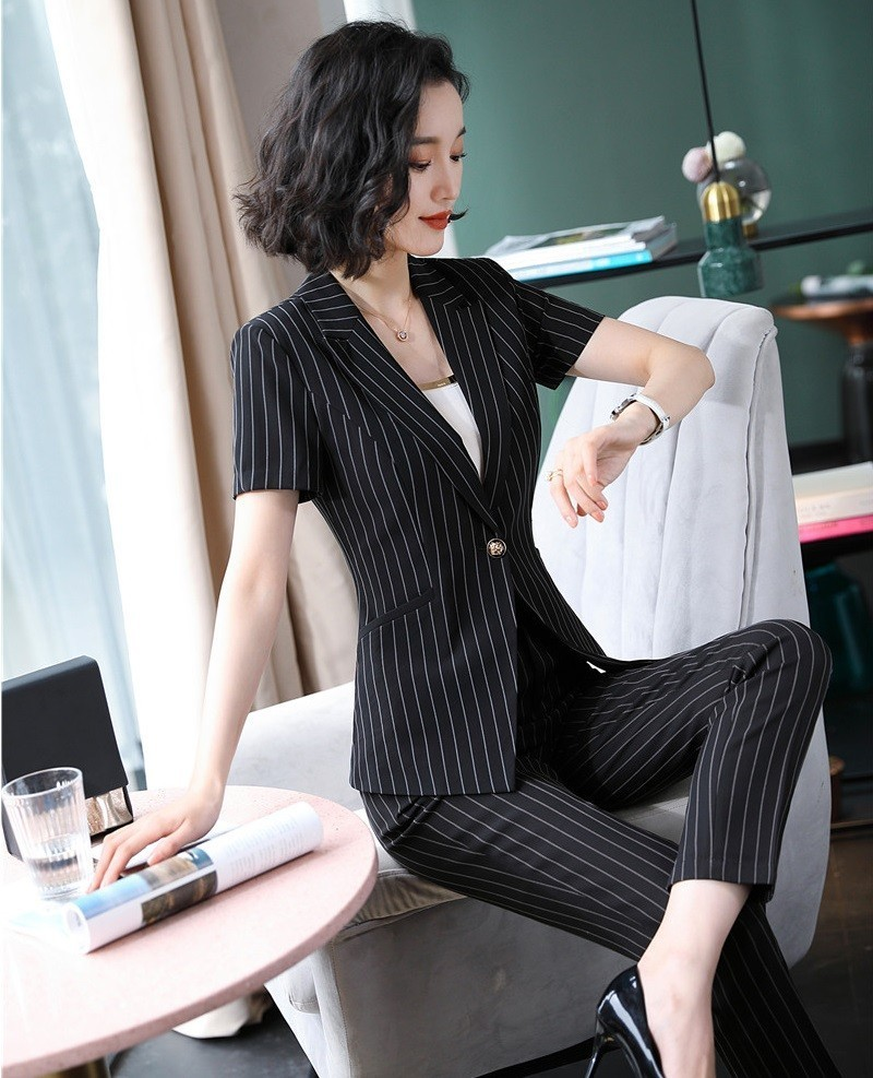 Formal Uniform Designs Women Pantsuits With Pants And Tops Ladies Office Work Wear Professional Blazers Trousers Sets