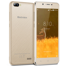 Blackview A7 Smartphone Android 7.0 MT6580A Quad Core Mobile Phone 1GB RAM 8GB ROM Dual back camera Unlocked Cell Phone(China)