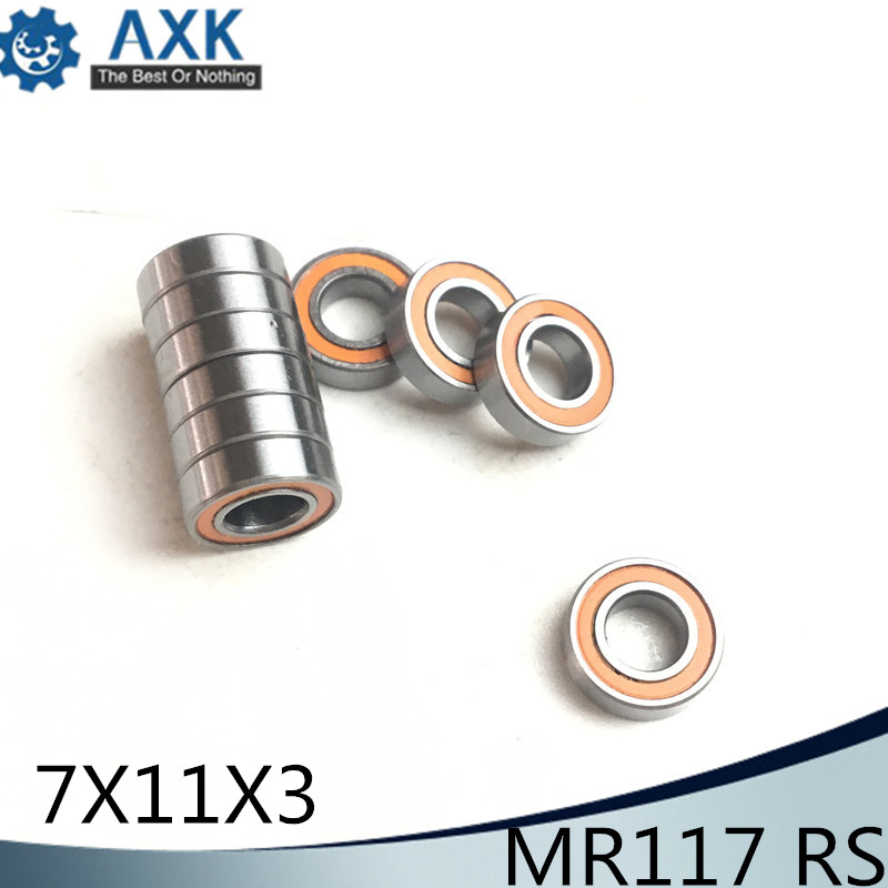 10pcs MR115-2RS 5x11x4 mm Yellow Rubber Sealed Ball Bearing Bearings 5*11*4