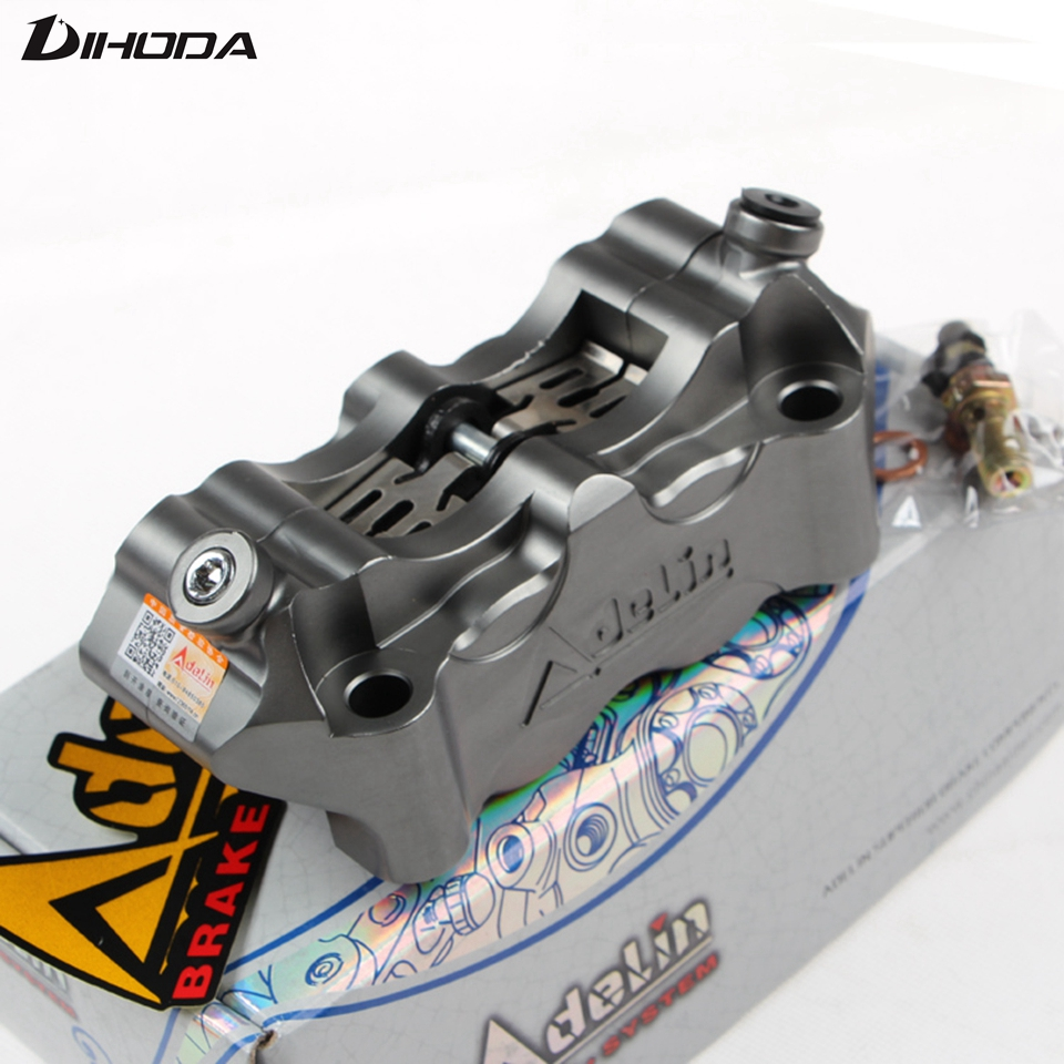 Motorcycle universal modification 4 piston Adelin HF2 Brake calipers BWS RSZ CNC rear brake motorcycle parts Large radiation цены
