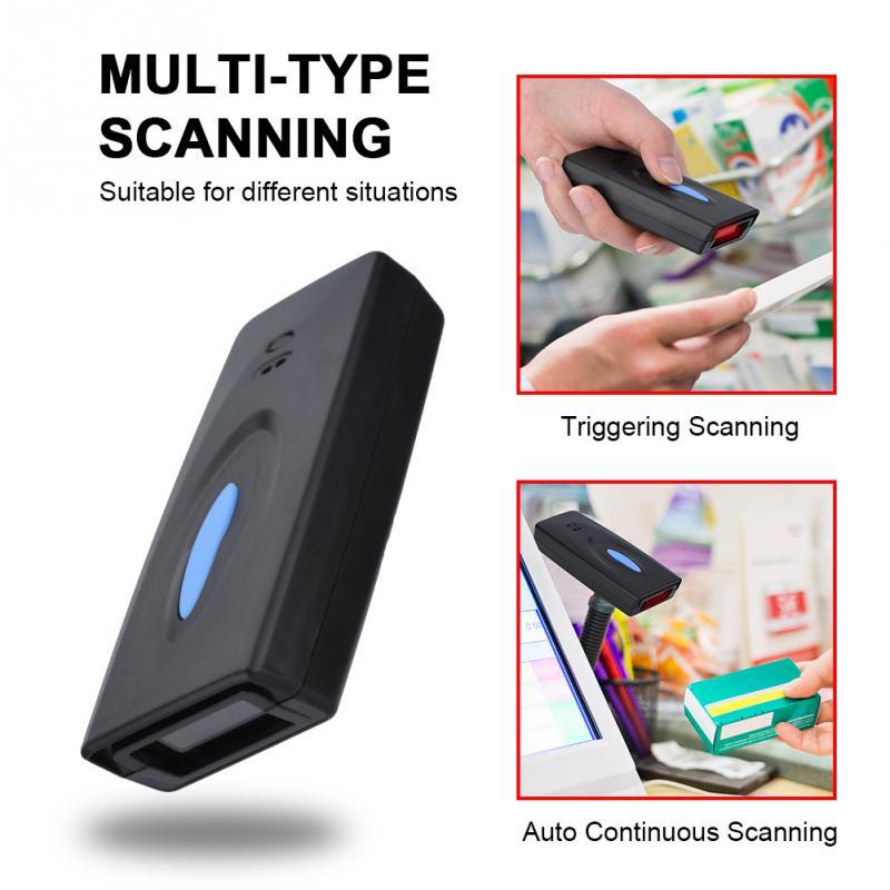 2,4g Bluetooth Barcode Scanner Hohe Präzision 4mil Verhindert Fehler Zu Einem Großen Teil Infrarot Scannen Bluetooth Barcode Reader Starke Verpackung