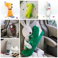 1pc 50cm cartoon dinosaur crocodile fox plush vehicle pillow cushion safety belt cover novelty kids sleep stuffed toy ah