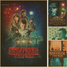 Sci-Fi Science Stranger Things Classic Retro Vintage Kraft Decorative DIY Wall Sticker Home Bar Posters Decoration Gift