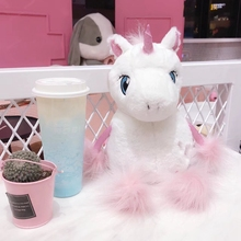 Fluffy Cartoon Plush Unicorn Toy