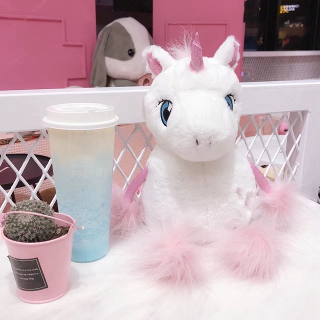 Kawaii Soft White Unicorn Toy
