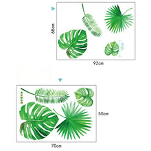 Green Plants Printed Wall Stickers