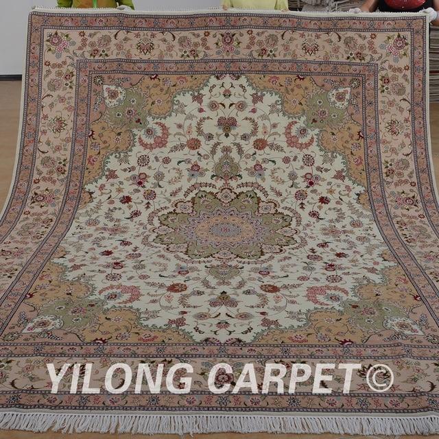 Yilong 8x10 персидский ковер ручной изысканный розовый ручная