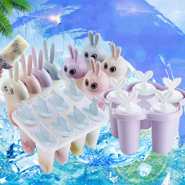 Cute Animals Ice Cream Mould Frozen Cube Molds Maker Happy DIY Tools Cooking
