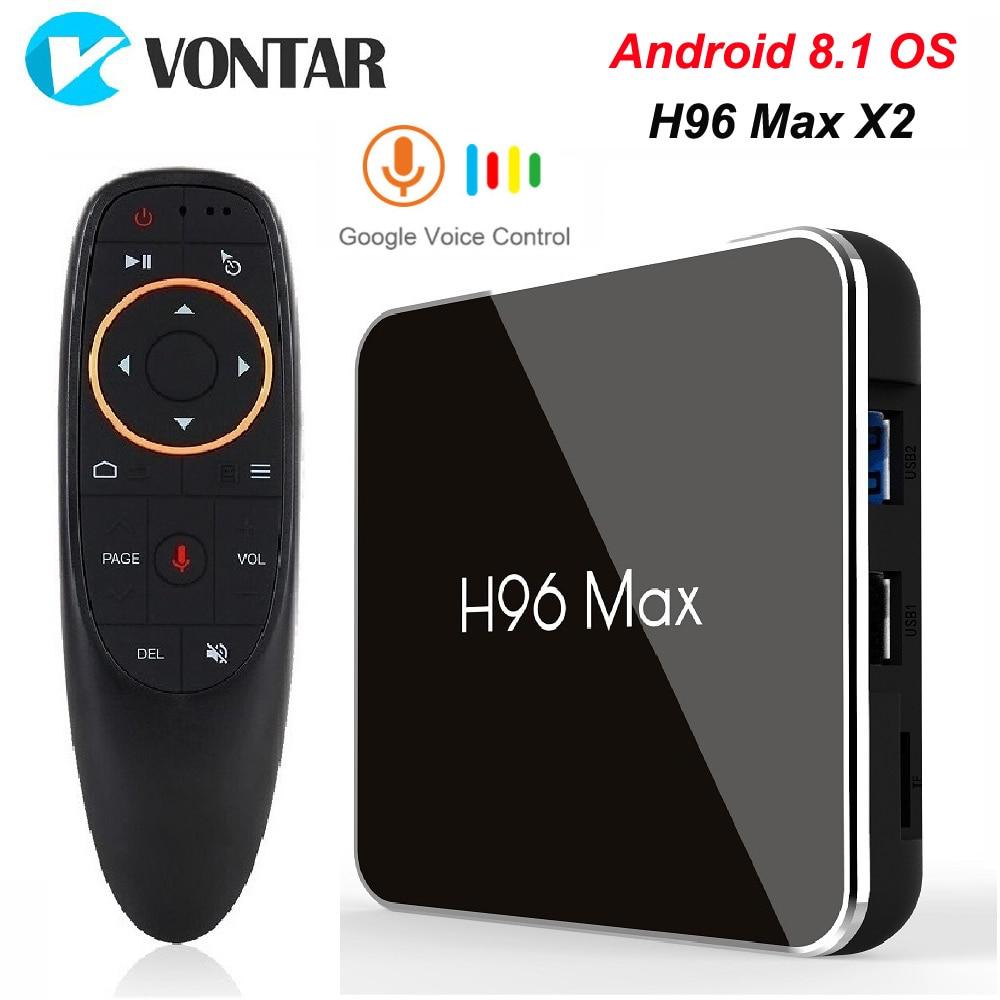 H96 MAX X2 4 ГБ, 32 ГБ, 64 ГБ Android 8,1 ТВ коробка S905X2 USB3.0 1080 P H.265 4 K Декодер каналов кабельного телевидения Google Play H96MAX Smart tv плеер
