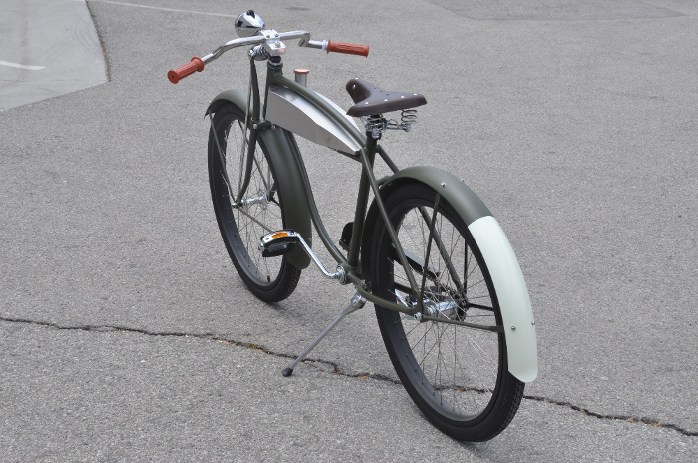 Cafe Racer Style Motorized Bicycle Seat